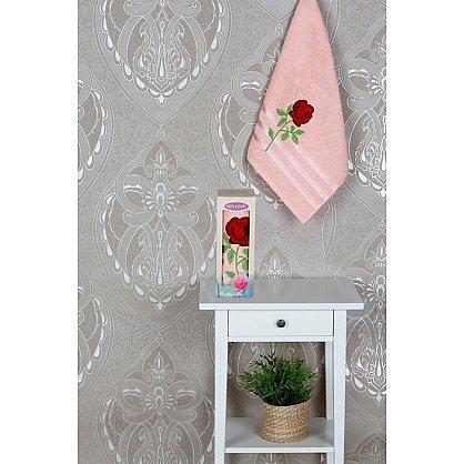 Полотенце Vevien Роза в коробке, персиковый, 50*90 см (mt-100590), фото 1