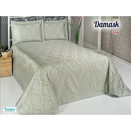 Покрывало DO&CO Damask, зеленый, 240*260 см (mt-100692), фото 1