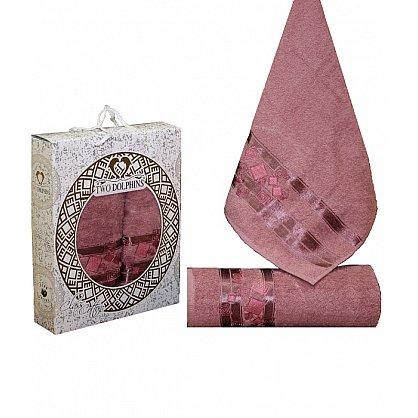 Комплект из 2-х полотенец Cotton Class в коробке (50*90; 70*140), брусничный (mt-100647), фото 1