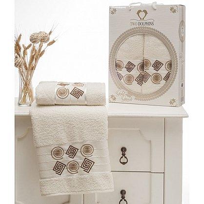 Комплект из 2-х полотенец Cotton Class в коробке (50*90; 70*140), кремовый (mt-100649), фото 1