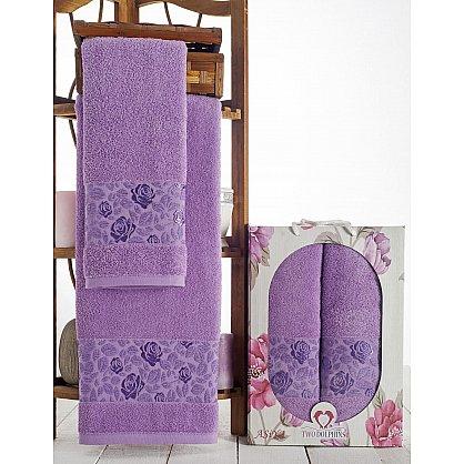 Комплект махровых полотенец Asiya в коробке (50*90; 70*140), лиловый (mt-100604), фото 1