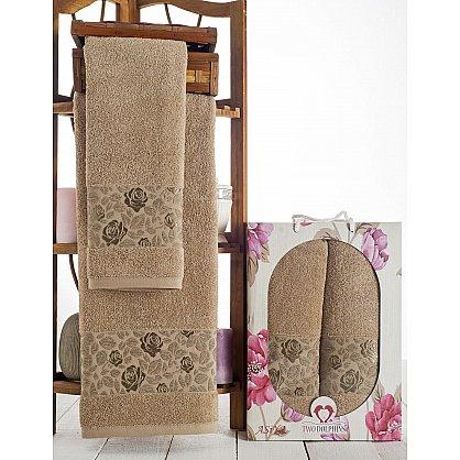 Комплект махровых полотенец Asiya в коробке (50*90; 70*140), молочный (mt-100605), фото 1