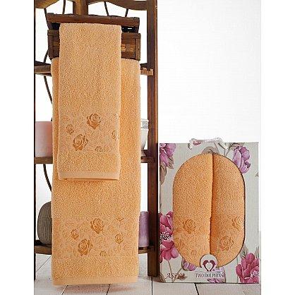 Комплект махровых полотенец Asiya в коробке (50*90; 70*140), персиковый (mt-100606), фото 1