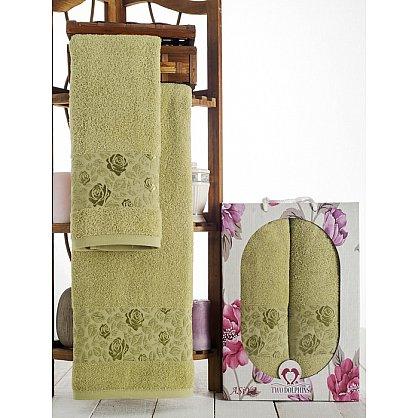 Комплект махровых полотенец Asiya в коробке (50*90; 70*140), зеленый (mt-100602), фото 1