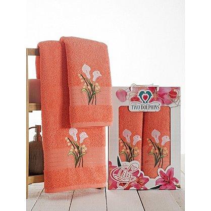 Комплект махровых полотенец Golden Lily в коробке (50*90; 70*140), персиковый (mt-100611), фото 1