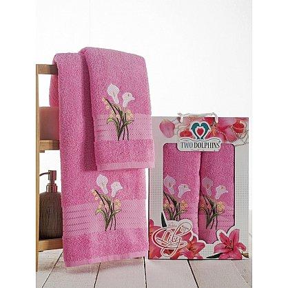 Комплект махровых полотенец Golden Lily в коробке (50*90; 70*140), розовый (mt-100612), фото 1