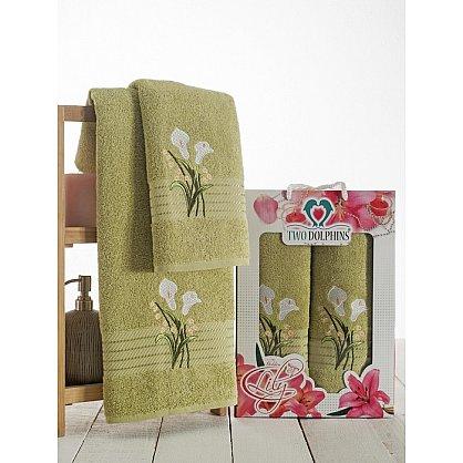 Комплект махровых полотенец Golden Lily в коробке (50*90; 70*140), зеленый (mt-100609), фото 1