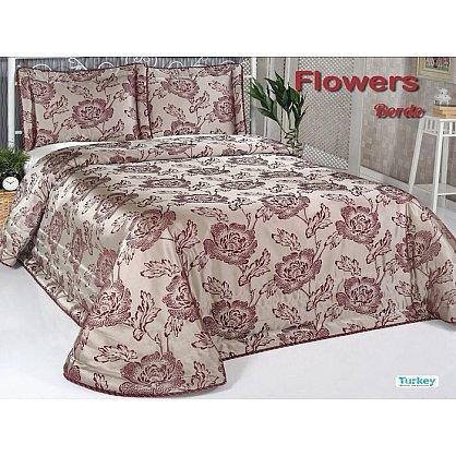 Покрывало DO&CO Flowers, бордовый, 240*260 см (mt-100786), фото 1