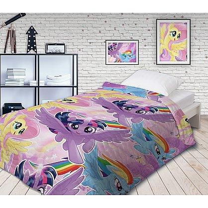Покрывало Непоседа 'My Little Pony' Небесные пони 145х200 хлопок 100 бязь стеганое мультиколор (447396), фото 1