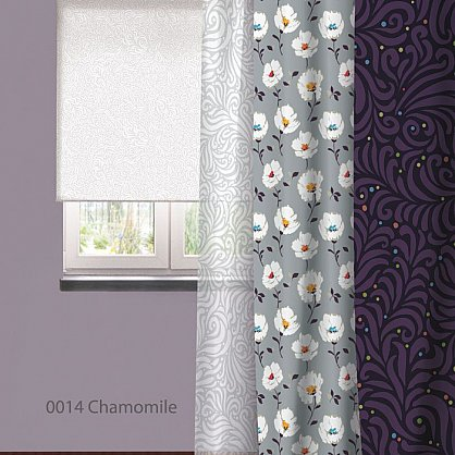 "Рулонная штора ролло ""Chamomile"", дизайн 0014, 140 см (nt-101984), фото 2"