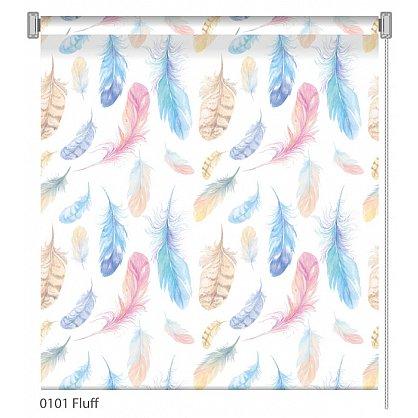"Рулонная штора ролло ""Fluff"", дизайн 0101, 120 см (nt-101998), фото 1"