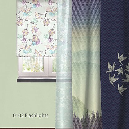 "Рулонная штора ролло ""Flashlights"", дизайн 0102 (nt-200390-gr), фото 3"