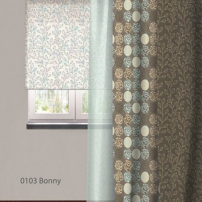 """Рулонная штора ролло """"Bonny"""", дизайн 0103, 120 см (nt-102008), фото 3"""