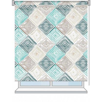 """Рулонная штора ролло """"Geometric"""", дизайн 0104, 80 см (nt-102011), фото 2"""