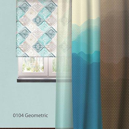 """Рулонная штора ролло """"Geometric"""", дизайн 0104, 80 см (nt-102011), фото 3"""