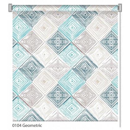 """Рулонная штора ролло """"Geometric"""", дизайн 0104, 80 см (nt-102011), фото 1"""