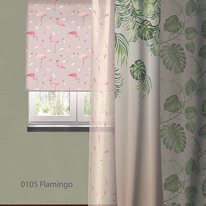 """Рулонная штора ролло """"Flamingo"""", дизайн 0105, 140 см (nt-102019), фото 3"""