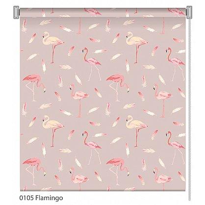 """Рулонная штора ролло """"Flamingo"""", дизайн 0105, 140 см (nt-102019), фото 1"""
