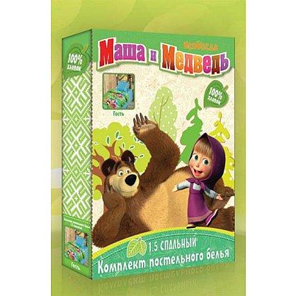 """КПБ """"Маша и Медведь"""" 3D На границе, бязь (n-26), фото 2"""