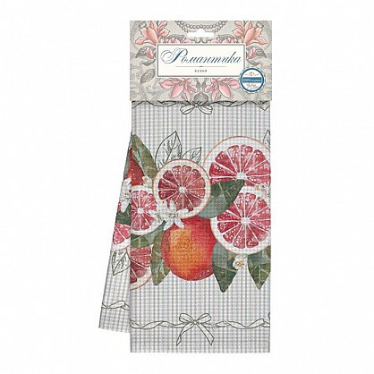 Комплект полотенец вафельных 50*70 (3шт) 'Романтика' Грейпфрут (466266), фото 1