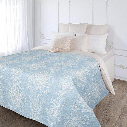 Покрывало стеганое 'Венеция' (230*250) плстр, бел/голубой (404809), фото 1