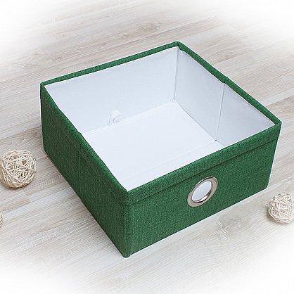 """Декоративная корзинка """"Фальсо-3"""", средняя, зеленый (DK.F331-3), фото 1"""