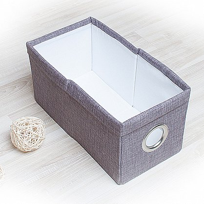 "Декоративная корзинка ""Фальсо-5"", малая, серый (DK.F311-5), фото 1"