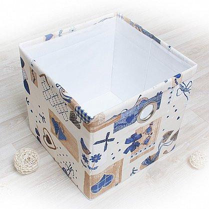 "Декоративная корзинка ""Яна"", большая, синий (DK.Jn333-3), фото 1"