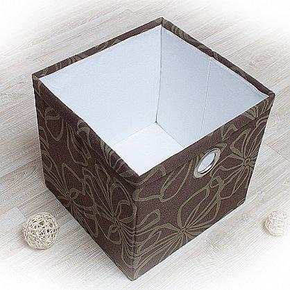 """Декоративная корзинка """"Доротея-4"""", большая, темно-коричневый (DK.D333-4), фото 1"""