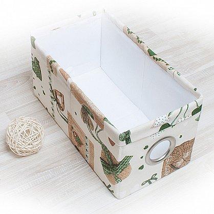 "Декоративная корзинка ""Яна"", малая, зеленый (DK.Jn311-2), фото 1"