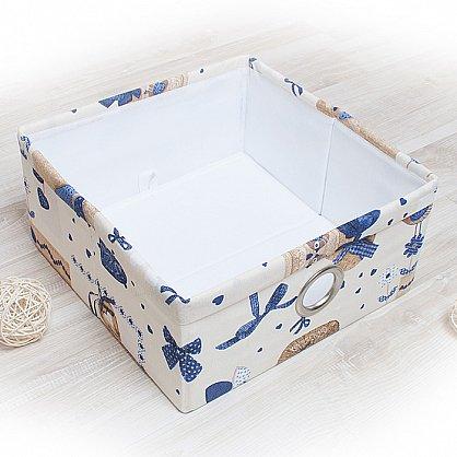 """Декоративная корзинка """"Яна"""", средняя, синий (DK.Jn331-3), фото 1"""