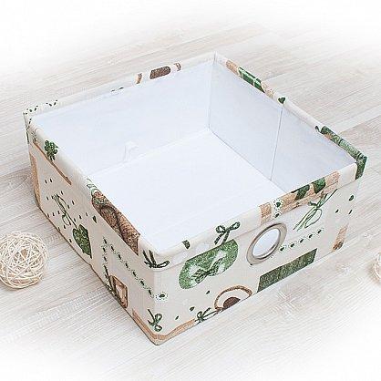 """Декоративная корзинка """"Яна"""", средняя, зеленый (DK.Jn331-2), фото 1"""
