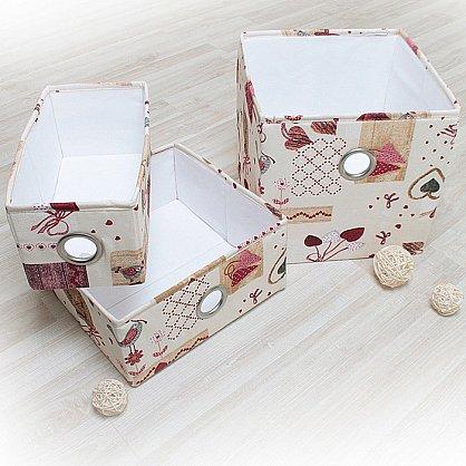 """Декоративная корзинка """"Яна"""", средняя, бордовый (DK.Jn331-1), фото 2"""