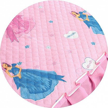 """Покрывало детское """"Карусель"""", Барби на розовом (KR-120 br), фото 3"""