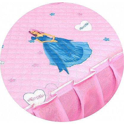 """Покрывало детское """"Карусель"""", Барби на розовом (KR-120 br), фото 5"""