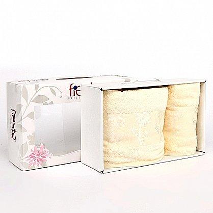 """Набор полотенец """"Bamboo"""", крем, 2 шт. (F-bamboo-krem), фото 1"""