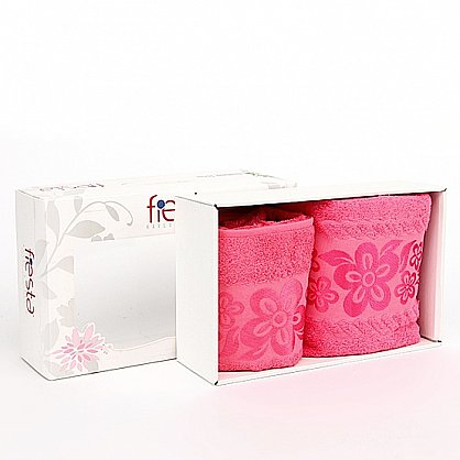 """Набор полотенец """"Belissimo"""", розовый, 2 шт. (7011-roz), фото 1"""
