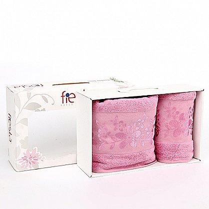"""Набор полотенец """"Verona"""", темно-розовый, 2 шт. (7010-F-verona-t-roz), фото 1"""