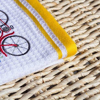 Комплект кухонных полотенец Arya Provense Велосипед (40*60 см), белый, желтый (ar-101439), фото 3