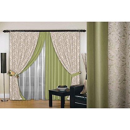 Комплект штор №019, фисташка, крем, 200*260 см (rt-100158), фото 1