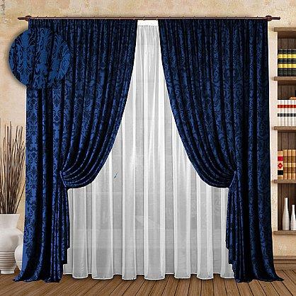 Комплект штор №126 Синий (rt-100145), фото 1