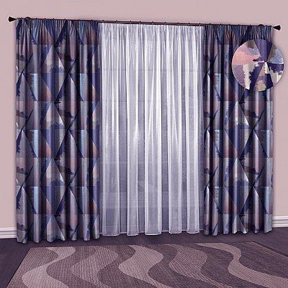 Комплект штор №127 Сине-розовый, Голубой (rt-100148), фото 1