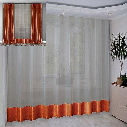 Занавеска №3-02, оранжевый, 280*270 см (rt-100287), фото 1