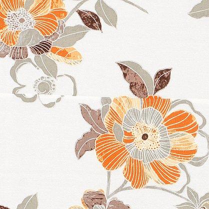 """Римская штора """"Бремен Цветы, Оранжевый"""", ширина 43 см (036-060-44(43)), фото 3"""