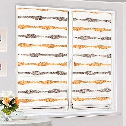 """Римская штора """"Бремен Волна, Оранжевый"""", ширина 68 см (037-060-69(68)), фото 2"""
