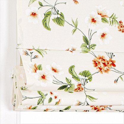 """Римская штора """"Миами рисунок Цветы, Терракот"""" (038-012-gr), фото 3"""
