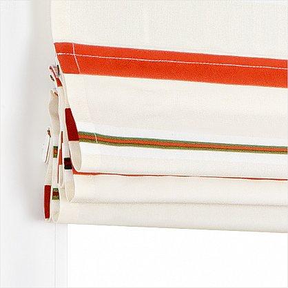 "Римская штора ""Миами рисунок Полоса, Терракот"", ширина 62 см (039-012-63(62)), фото 3"