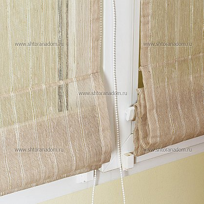 """Римская штора """"Натурель тюль, Лён-натуральный"""", ширина 73 см (033-003-74(73)), фото 7"""