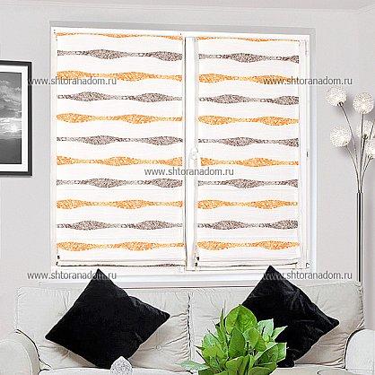"""Римская штора """"Бремен Волна, Оранжевый"""", ширина 68 см (037-060-69(68)), фото 4"""