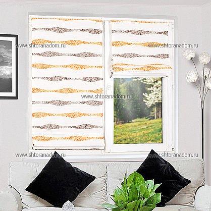 """Римская штора """"Бремен Волна, Оранжевый"""", ширина 68 см (037-060-69(68)), фото 5"""